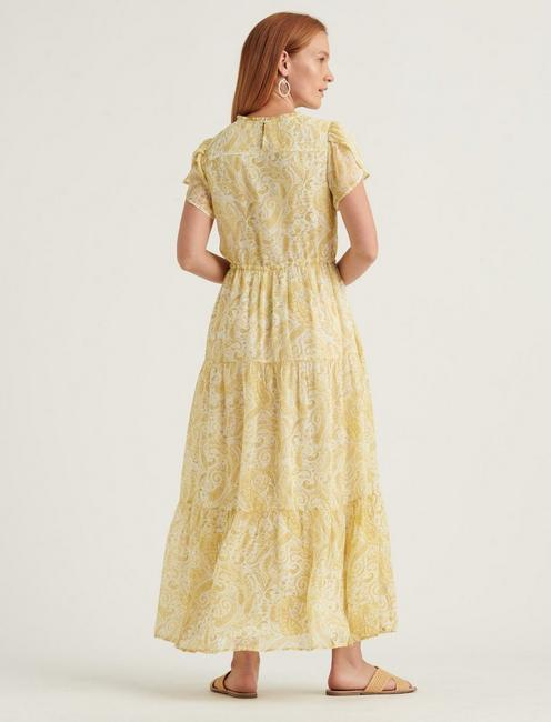 ARIEL MAXI DRESS, YELLOW MULTI