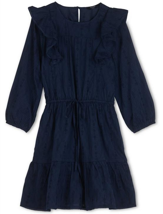 CHARLIE RUFFLE MINI DRESS, AMERICAN NAVY, productTileDesktop
