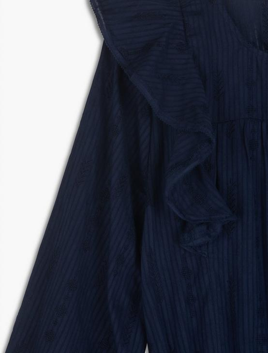 CHARLIE RUFFLE MINI DRESS, AMERICAN NAVY, productTileDesktop