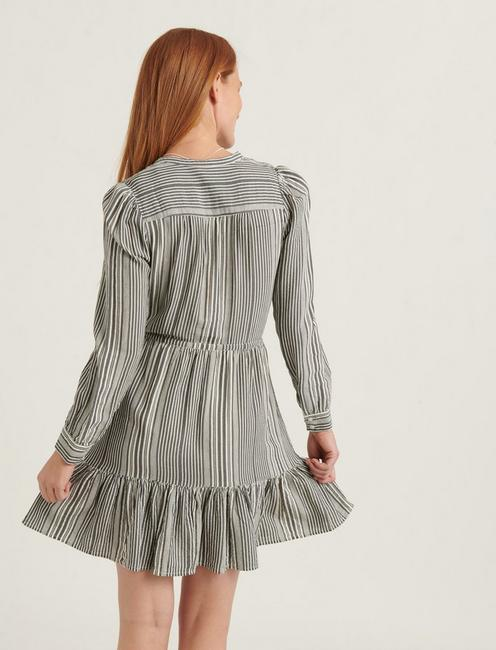 RILEY DRESS, GREY MULTI