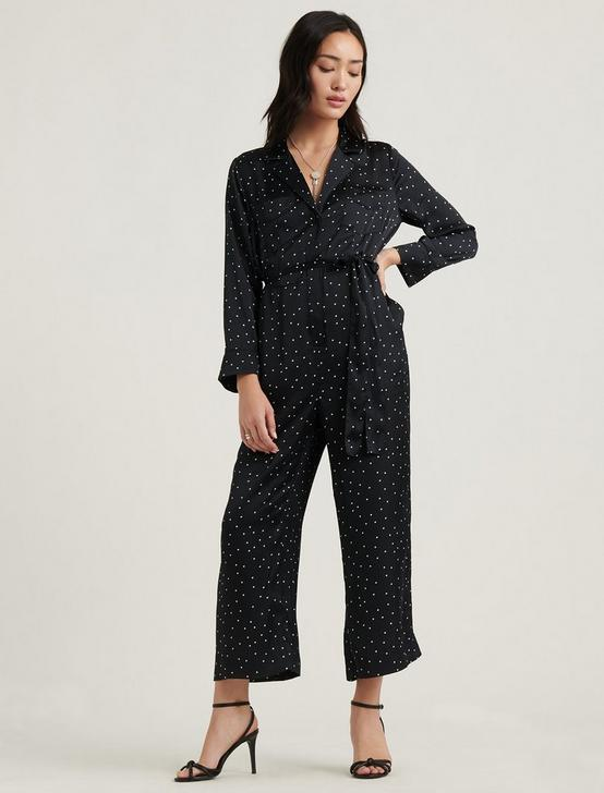 PRINTED SATIN JUMPSUIT, BLACK MULTI, productTileDesktop