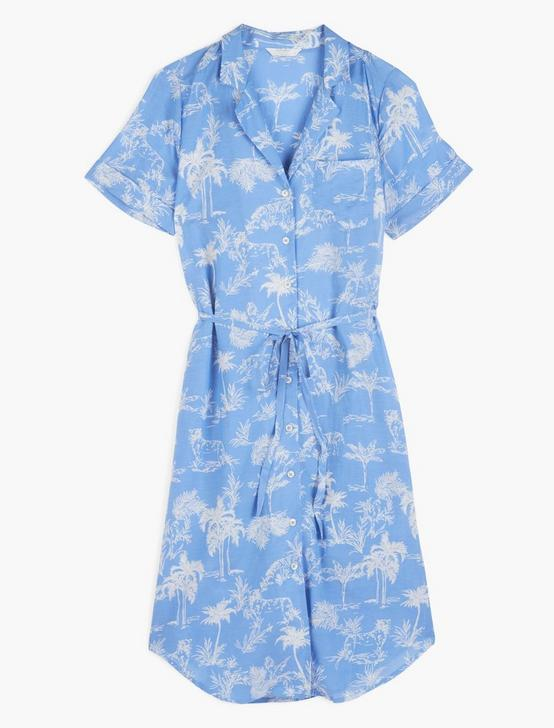RESORT SHIRT DRESS, BLUE MULTI, productTileDesktop