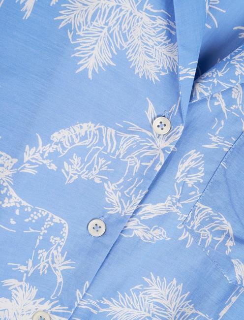 RESORT SHIRT DRESS, BLUE MULTI
