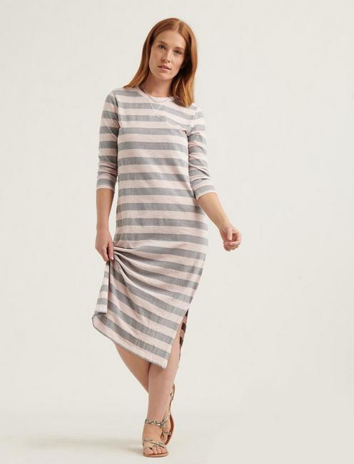 GARMENT DYED RUGBY DRESS, PINK MULTI