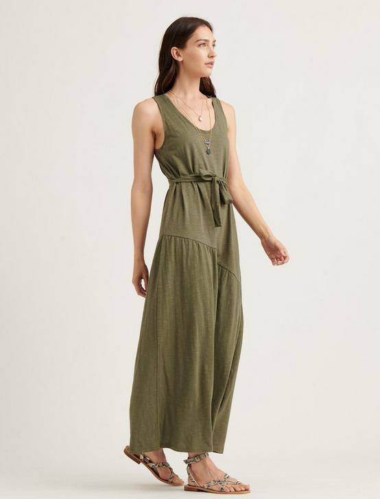 ELIZA BELTED MAXI DRESS, BURNT OLIVE, productTileDesktop