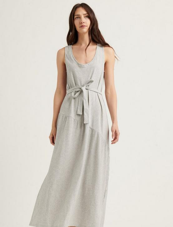 ELIZA STRIPE BELTED MAXI DRESS, WHITE/NAVY, productTileDesktop
