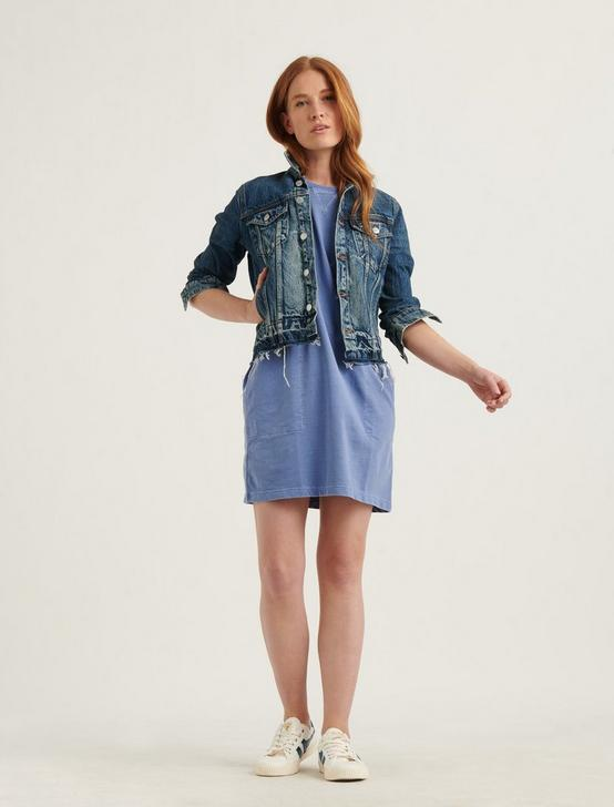 FRENCH TERRY MINI DRESS, BLUE, productTileDesktop