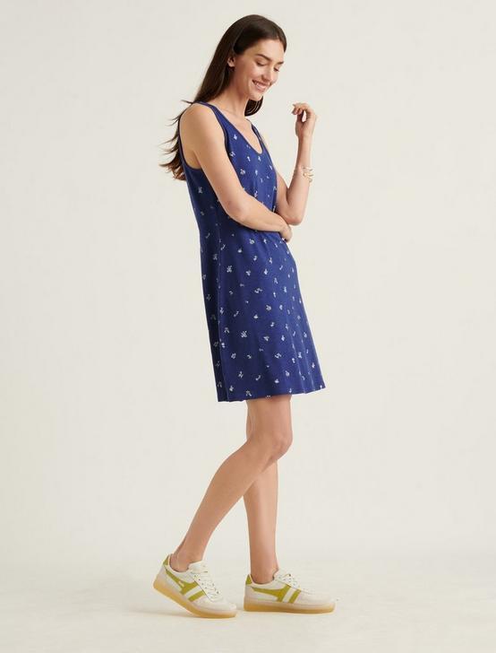 KNIT TANK MINI DRESS, BLUE MULTI, productTileDesktop