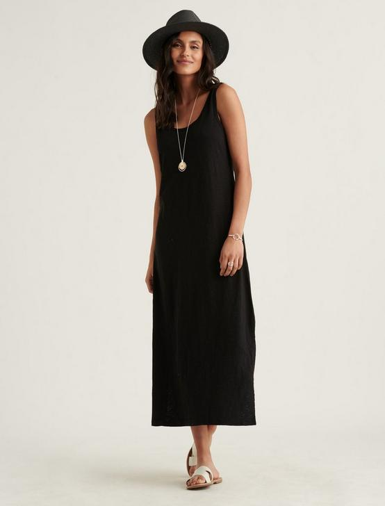 EASY KNIT MAXI DRESS, 001 LUCKY BLACK, productTileDesktop