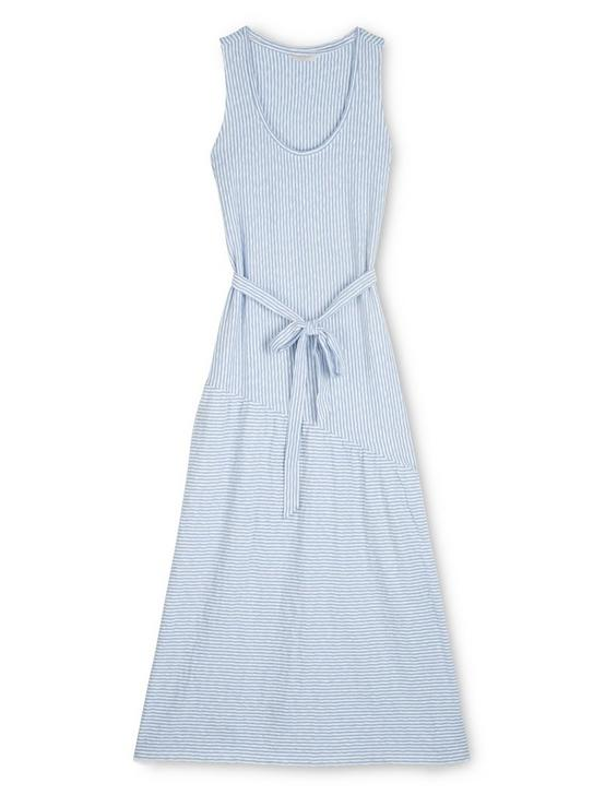 ELIZA STRIPE BELTED MAXI DRESS, LIGHT BLUE / WHITE, productTileDesktop