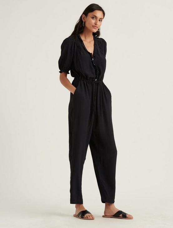 RUFFLE JUMPSUIT, 001 LUCKY BLACK, productTileDesktop