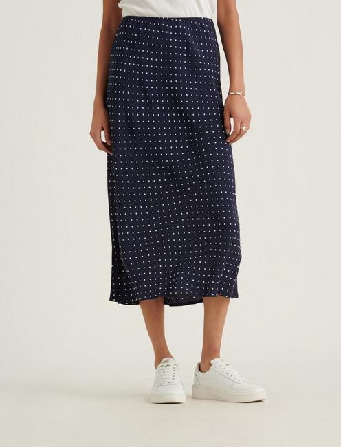 WILLA SLIP SKIRT, NAVY MULTI