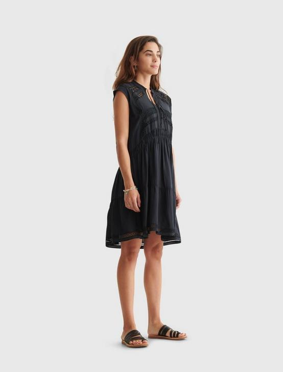 LACE INSET DRESS, JET BLACK, productTileDesktop