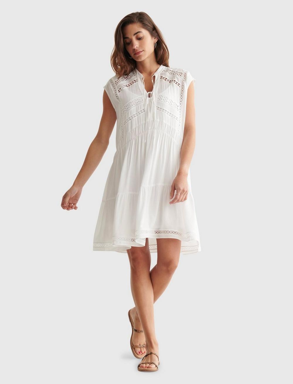 LACE INSET DRESS, image 1