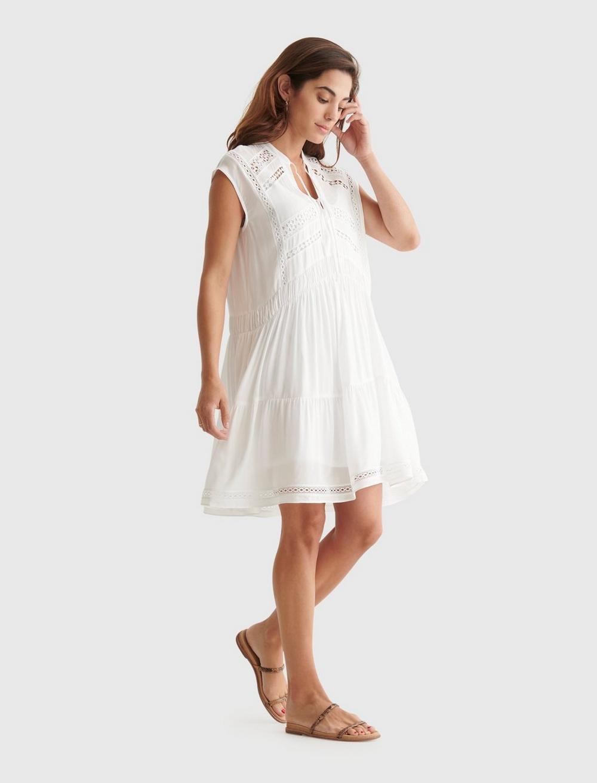 LACE INSET DRESS, image 2