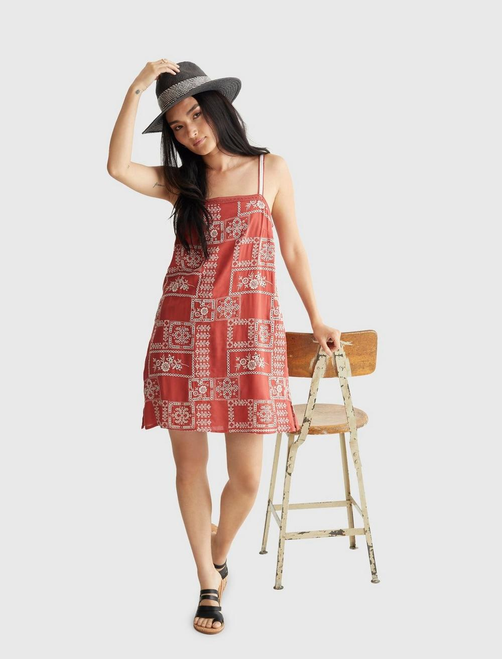 EMBROIDERED SQUARE NECK CAMI DRESS, image 6
