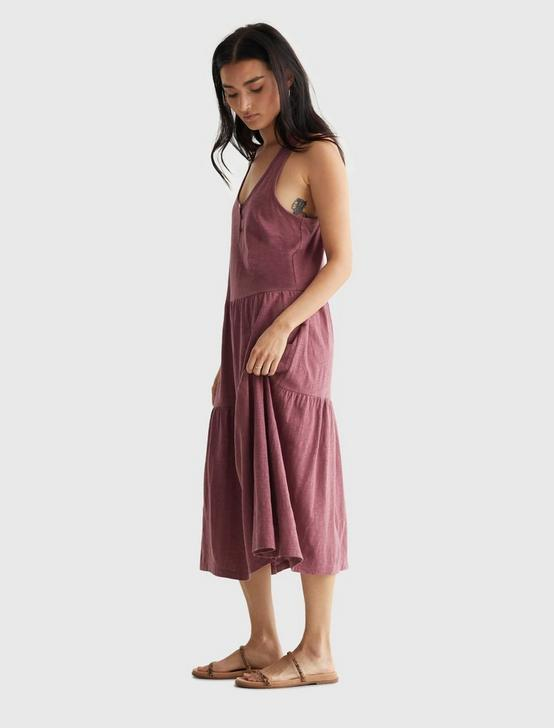 TIERED MAXI DRESS, CRUSHED BERRY, productTileDesktop