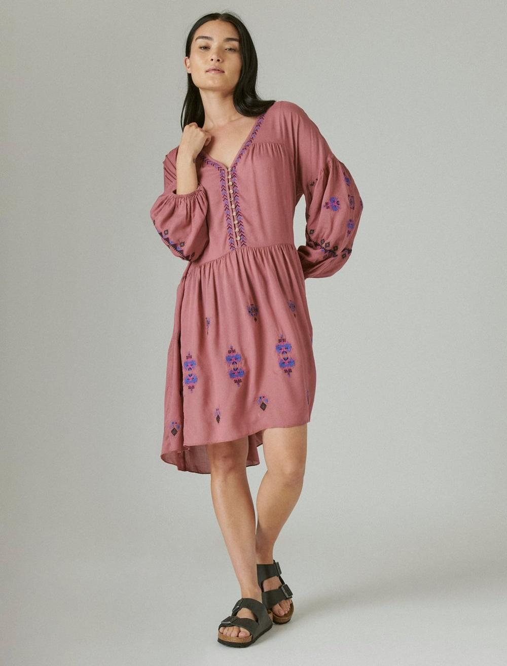 EMBROIDERED TIERED DRESS, image 1