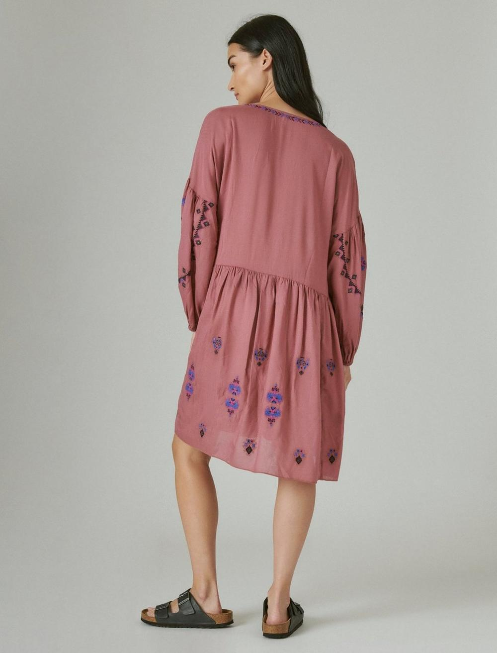 EMBROIDERED TIERED DRESS, image 3