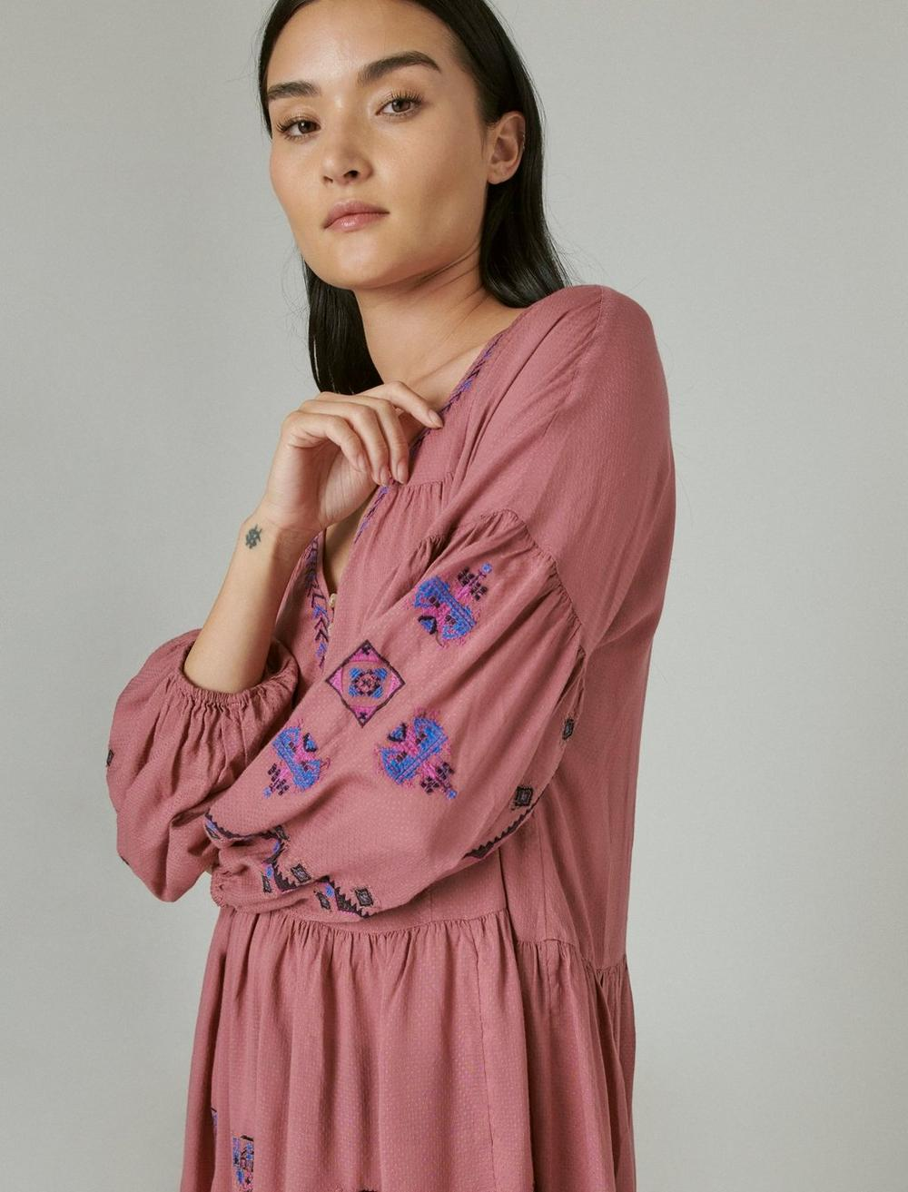 EMBROIDERED TIERED DRESS, image 5