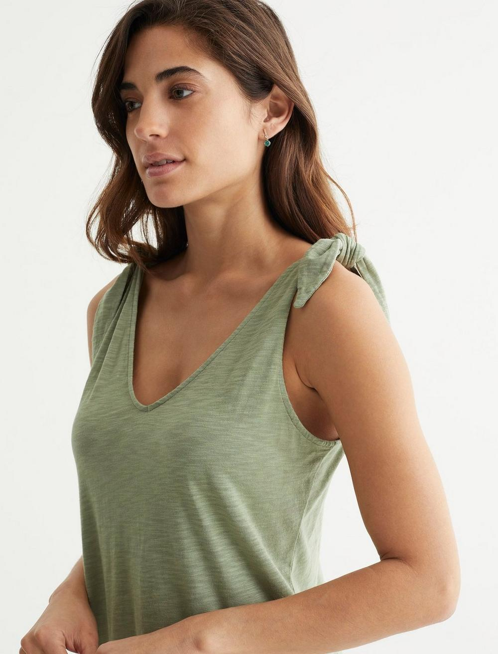 KNOTTED TANK DRESS, image 5