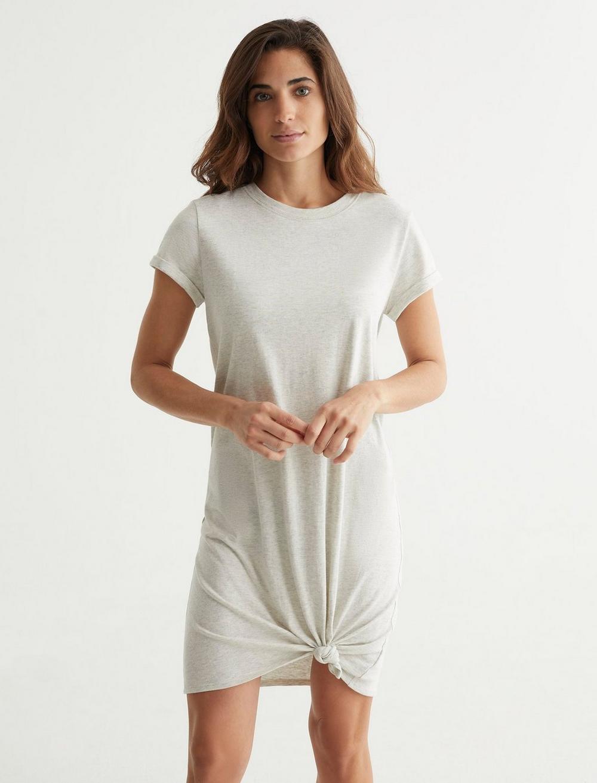 TWIST FRONT SHIRT DRESS, image 1
