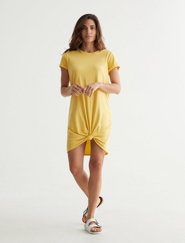 TWIST FRONT SHIRT DRESS, image 2