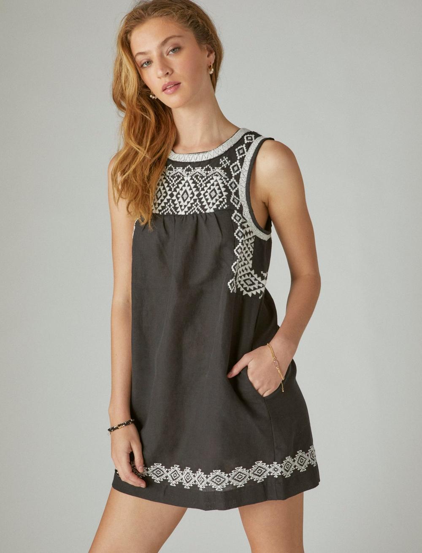 EMBROIDERED SLEEVELESS DRESS, image 3