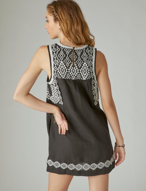 EMBROIDERED SLEEVELESS DRESS, image 4