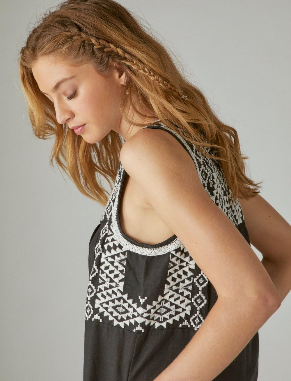 EMBROIDERED SLEEVELESS DRESS, image 5