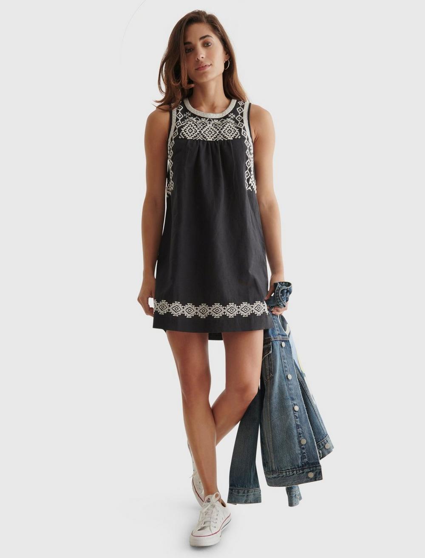 EMBROIDERED SLEEVELESS DRESS, image 6