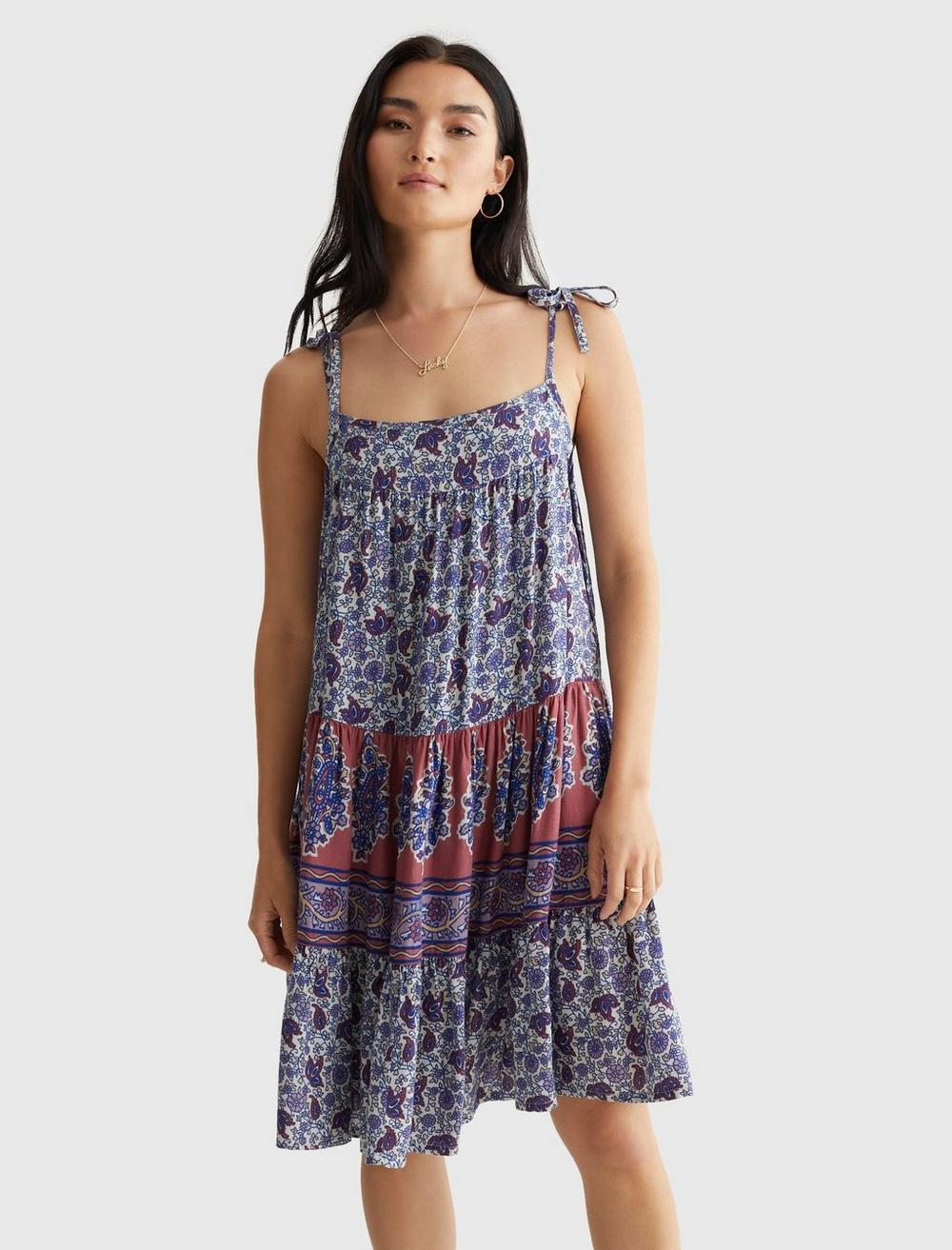 PRINTED TIERED CAMI DRESS, image 2