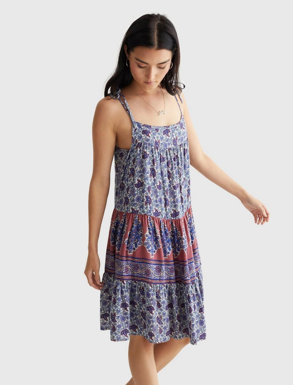 PRINTED TIERED CAMI DRESS, image 3