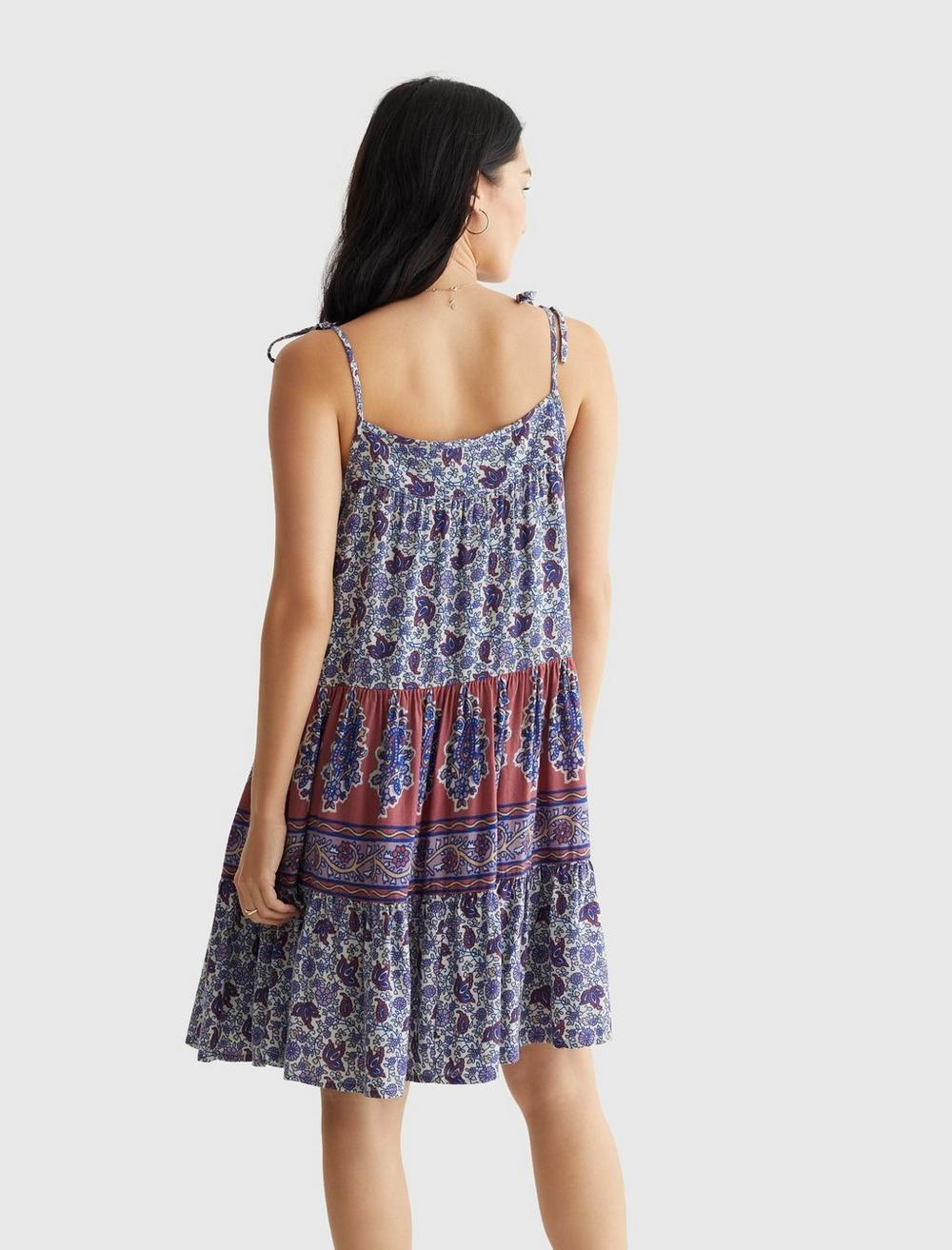 PRINTED TIERED CAMI DRESS, image 4