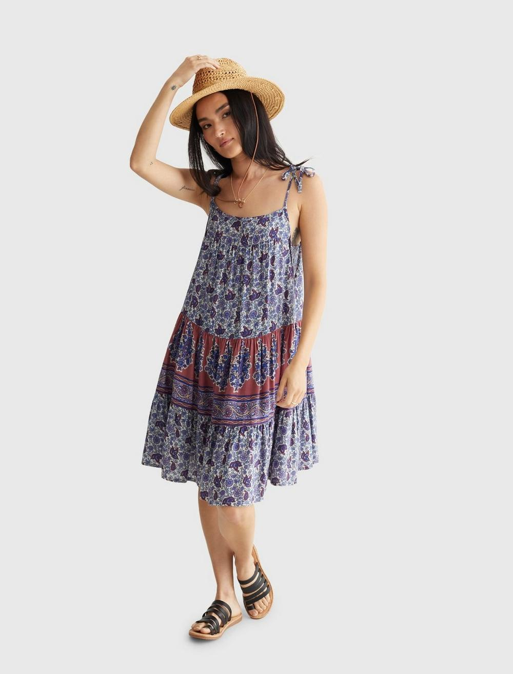 PRINTED TIERED CAMI DRESS, image 6