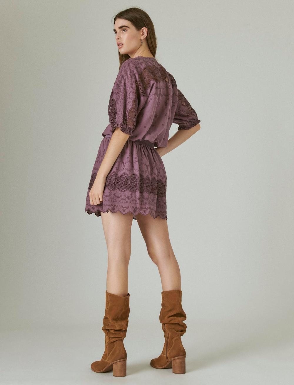 EYELET DROP WAIST MINI DRESS, image 3