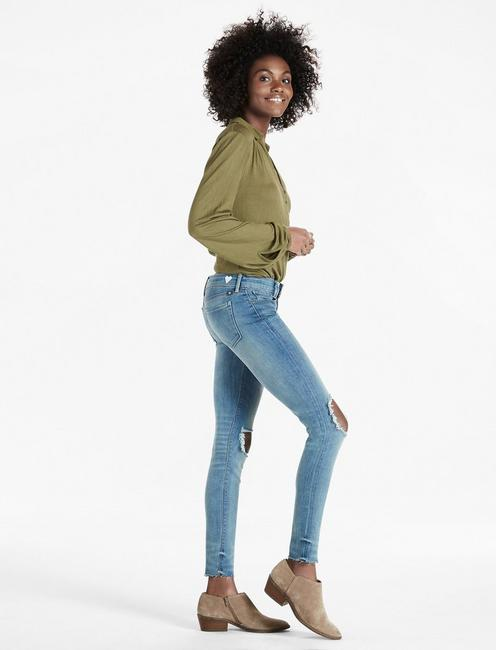 Lucky Brand Womens Mid Rise Ava Legging Jean in Highland Haven