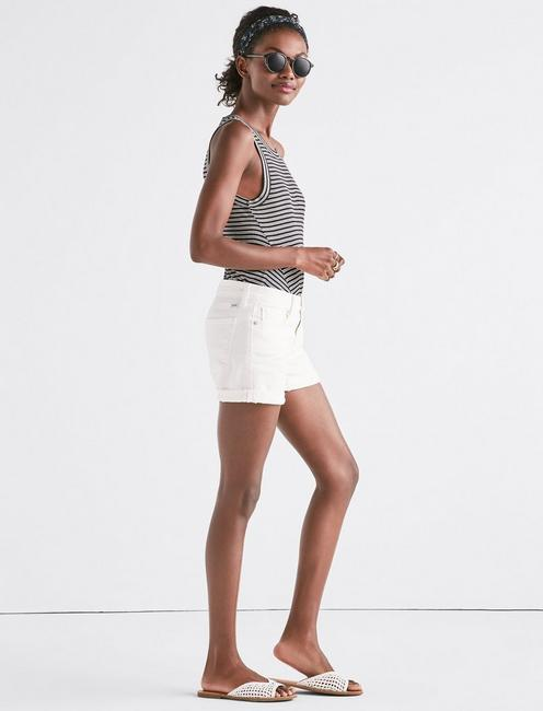 THE ROLL UP JEAN SHORT IN CLEAN WHITE, CLEAN WHITE
