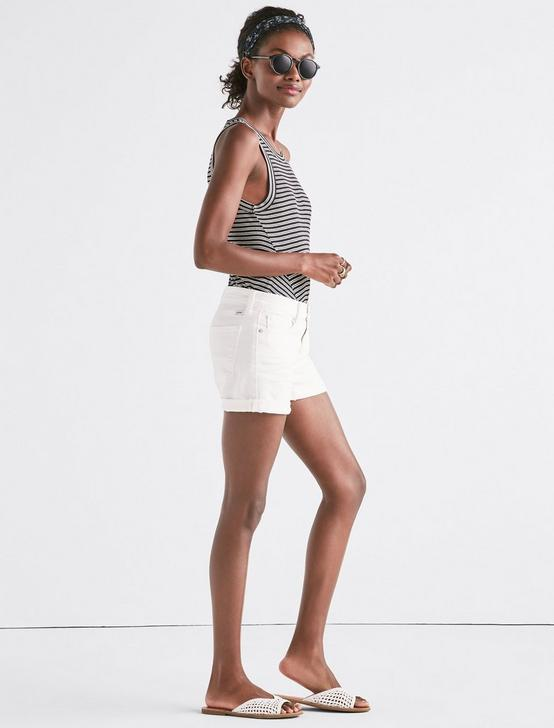 THE ROLL UP JEAN SHORT IN CLEAN WHITE, CLEAN WHITE, productTileDesktop