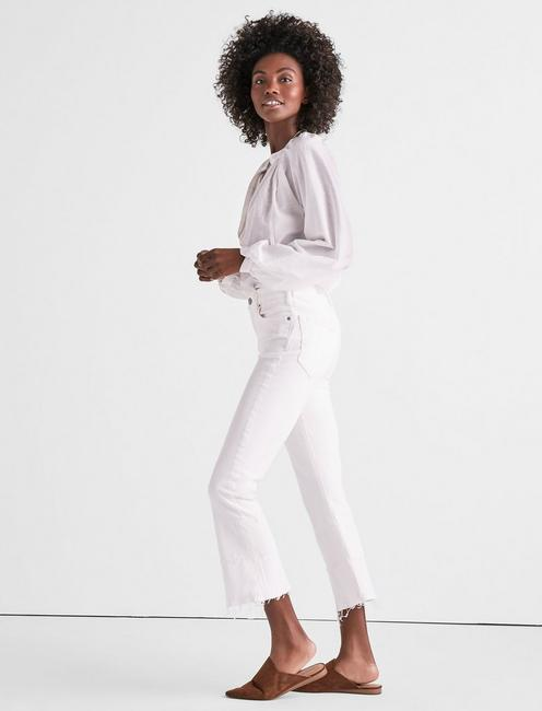 BRIDGETTE CROPPED BOOT JEAN IN CLEAN WHITE WITH RELEASED HEM, CLEAN WHITE-HRH