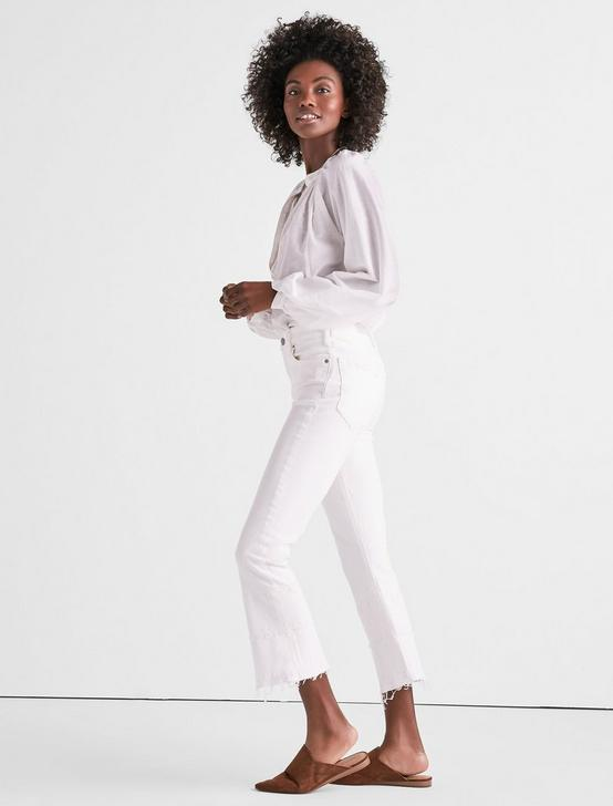 BRIDGETTE CROPPED BOOT JEAN IN CLEAN WHITE WITH RELEASED HEM, CLEAN WHITE-HRH, productTileDesktop
