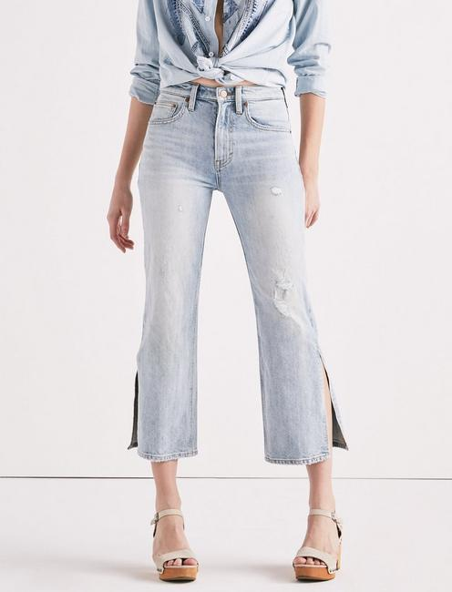LUCKY PINS HIGH RISE SIDE SLIT JEAN IN MIRA MAR, MIRA MAR