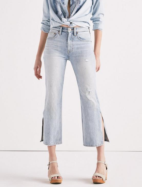 LUCKY PINS HIGH RISE SIDE SLIT JEAN IN MIRA MAR, MIRA MAR, productTileDesktop