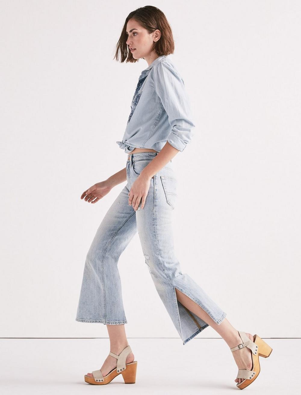 LUCKY PINS HIGH RISE SIDE SLIT JEAN IN MIRA MAR, image 2