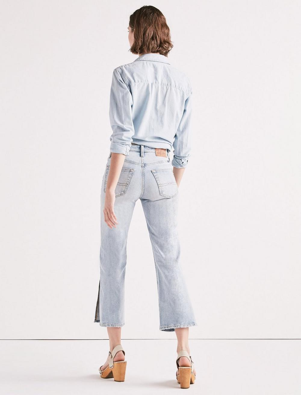 LUCKY PINS HIGH RISE SIDE SLIT JEAN IN MIRA MAR, image 3