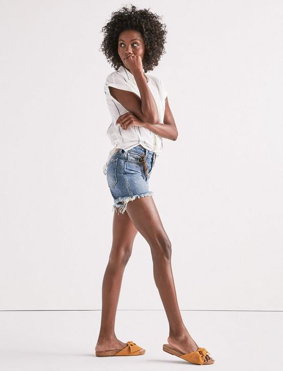 HIGH RISE TOMBOY CUT OFF JEAN SHORT IN HARTLEY FRAY, HARTLEY-FRAY, productTileDesktop