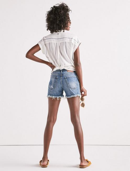 HIGH RISE TOMBOY CUT OFF JEAN SHORT IN HARTLEY FRAY, HARTLEY-FRAY