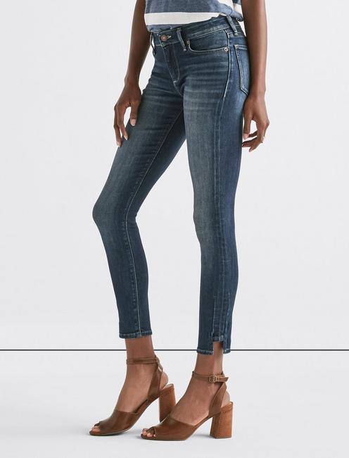 Stella Low Rise Skinny Jean with Hem Dart,