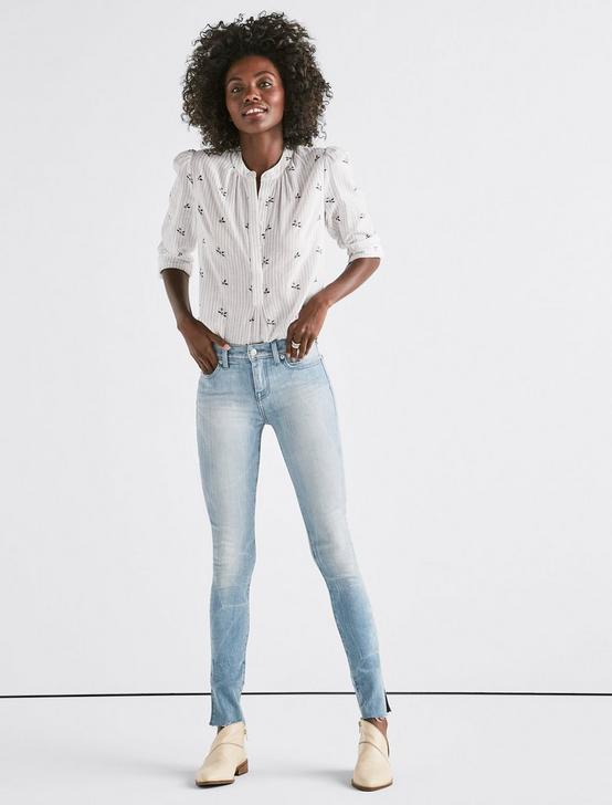 Ava Mid Rise Skinny Jean with Vent, SILVER SHOALS, productTileDesktop