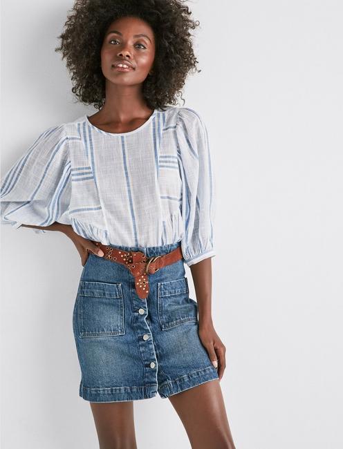 Denim A Line Skirt,